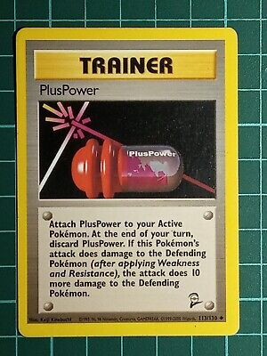 POKEMON CARD - PlusPower 113/130 - Base Set 2 - Unco - LP