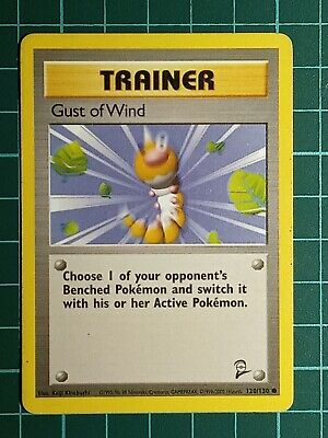 POKEMON CARD - Gust of Wind 120/130 - Base Set 2 - Common - MP
