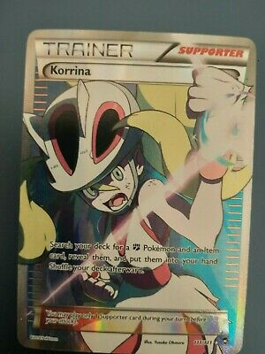Pokemon! Full Art Korrina 111/111 Furious Fists Ultra Rare Full Art Holo LP!