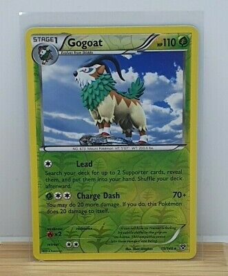 Gogoat Reverse Holo / Shiny Pokemon TCG Card XY Base Set 19/146 NEAR MINT