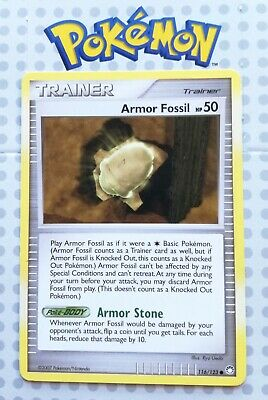 Pokemon Card Armor Fossil 116/123 Trainer Uncommon Mysterious Treasures Mint