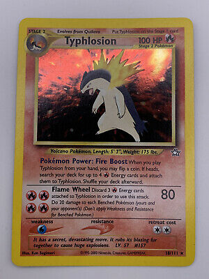 Typhlosion 18/111 Neo Genesis 1999 Holo Pokemon Trading Card  (RARE) Wizards