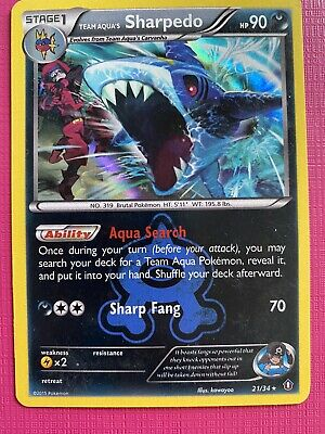Team Aqua's Sharpedo - 21/34 - Holo Rare Pokemon Double Crisis HP