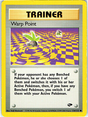 Gym Challenge Unlimited Warp Point 126/132 Pokemon Trading Card LP NM