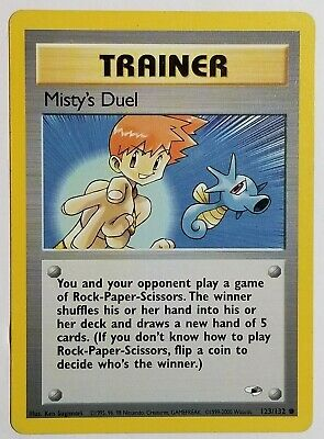 Pokemon Misty's Duel 123/132 Gym Heroes Non Holo Rare NM Card WOTC 2000