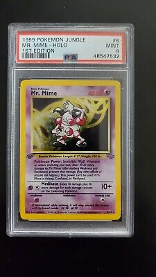 PSA 9 1st Edition Mr. Mime Holo - Jungle Pokemon Card