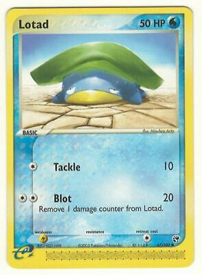 Pokemon Lotad 67/100 Ex Sandstorm Card - Near Mint / Mint - Look !!!!