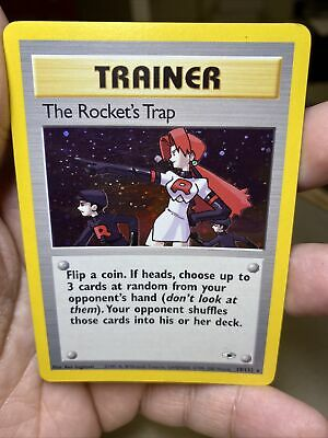 The Rocket's Trap 19/132 Gym Heroes Unlimited Pokemon Card PL
