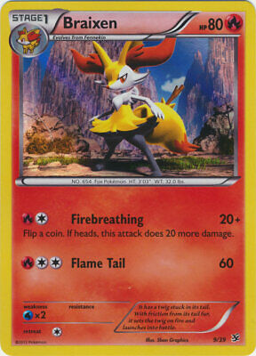 Pokemon - Braixen - 9/39 - HOLO - XY Kalos Starter - Fixed - Played