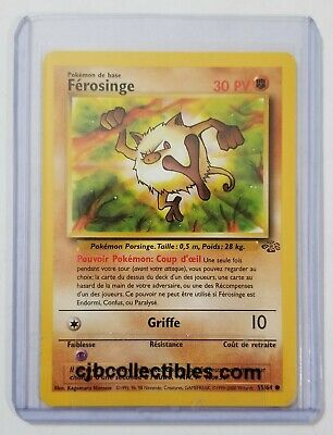 Pokemon MANKEY / FEROSINGE 55/64 Jungle (French) - Near Mint Condition + Bonus