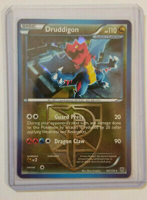 Pokemon DRUDDIGON 94/135 Reverse Holo Rare Plasma Storm - Lightly Played + Bonus