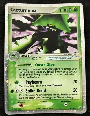 Pokemon CCG Cacturne ex Ex Emerald Ultra Rare 91/106 MP