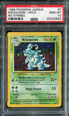Nidoqueen Jungle No Symbol Holo 7/64 PSA 10 GEM MINT Pokemon 1999 Error Card