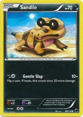 Sandile - 68/116 - Common NM Black & White 9: Plasma Freeze Pokemon 2B3