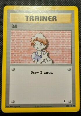 Pokemon Trainer Card Bill 108/110 Legendary Collection