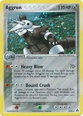 Aggron - 2/92 - Holo Rare NM Legend Maker Pokemon