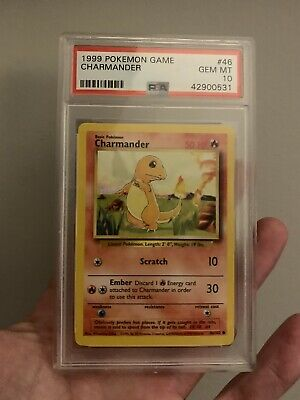 1999 Charmander Base Set Unlimited #46 Pokemon Game PSA 10 Gem Mint