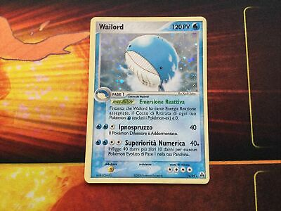 Pokemon Card Wailord 14/92 Holo Rare Legend Maker Used-NM ITALIAN