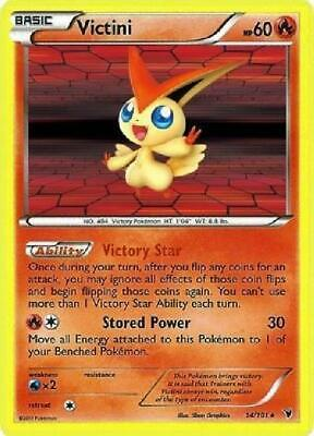 Victini - 14/101 - Holo Rare NM Noble Victories Pokemon 2B3