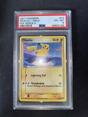 2007 Pokemon Pikachu POP Series 5 12/17 PSA 6 Holo and Upside Down Error Graded