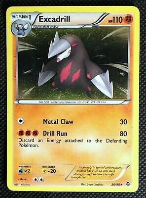 Excadrill Pokemon Card RARE HOLO Emerging Powers 5ban Graphics #56