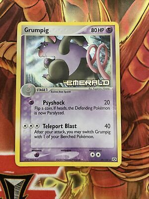 Pokemon Reverse Holo with Logo : Grumpig 29/106 (Ex Emerald) NM