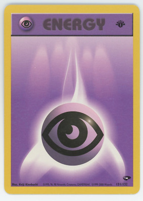 Psychic Energy 131/132 NM Pokemon Card Gym Challenge 1st Edition Common 2000