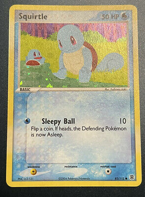 Squirtle Reverse Holo Pokemon Ex FireRed LeafGreen 2004 82/112