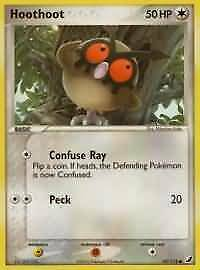 Hoothoot - 59/115 - Common NM Unseen Forces Pokemon 2B3