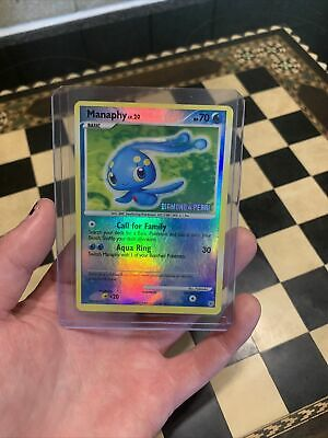 Manaphy 9/130 Reverse Holo - Diamond & Pearl Stamped Pre-Release Pokemon Card Ex