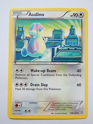 Audino 108/124 (NM, Pokemon Card, Dragons Exalted, 2012, Colorless, Uncommon)