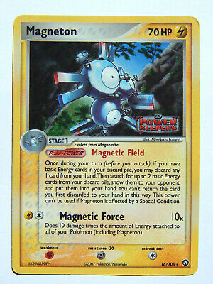 Magneton 16/108 (DMG, Pokemon Card, EX Power Keepers, Lightning, Stamped Holo)