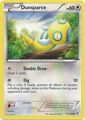 x4 Dunsparce - 111/149 - Common Pokemon BW7 Boundaries Crossed M/NM English