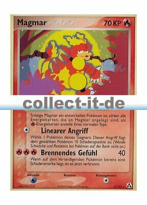 Pokemon EX Legend Maker 21/92 - Magmar Deutsch