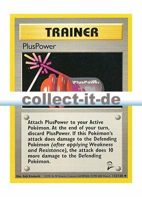 Pokemon Base Set 2 113/130 - PlusPower Englisch