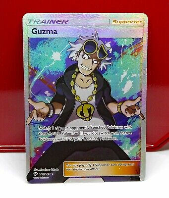 Pokemon - BURNING SHADOWS - GUZMA - 143/147 - Full Art HOLO RARE NEW