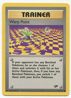 Pokemon Gym Challenge Warp Point 126/132 Nm-m Psa Worthy