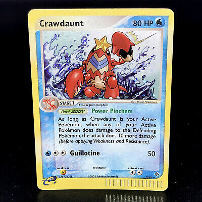 Crawdaunt - EX Dragon 3/97 - Rare Holo Pokemon Card