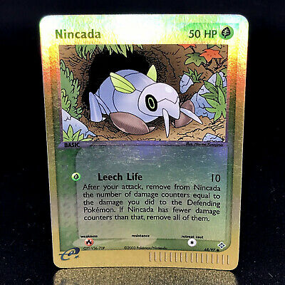 Nincada Reverse Holo - EX Dragon 68/97 - Common Pokemon Card - NM/M
