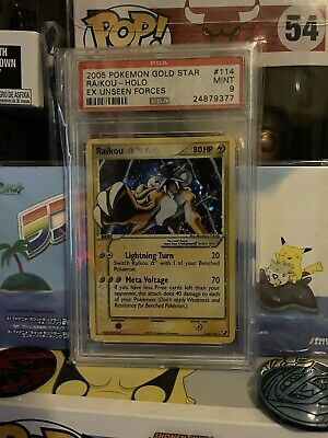 2005 Pokemon Gold Star EX Unseen Forces #114/115 Raikou - Holo PSA 9 MINT
