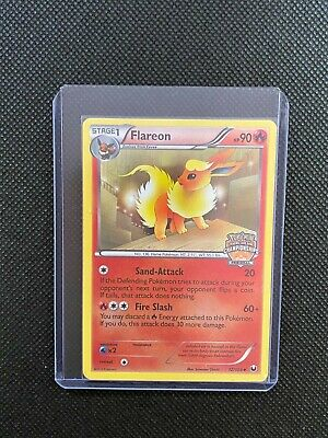Pokemon Flareon 12/108 2012 BW Dark Explorers Regional Promo NO STAFF - MP