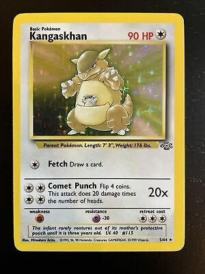 1999 POKEMON Kangaskhan - Jungle Set - Rare Holographic 5/64 NM