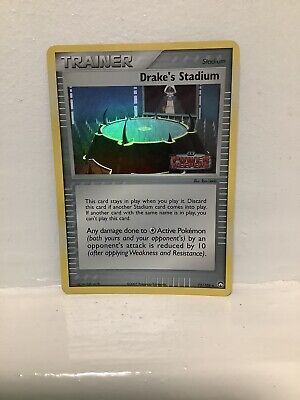 DRAKE'S STADIUM 72/108 EX POWER KEEPERS Holo Pokemon Card  STAMPED LOGO