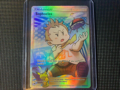 Sophocles 146/147 Ultra Rare Full Art Holo Pokemon Burning Shadows