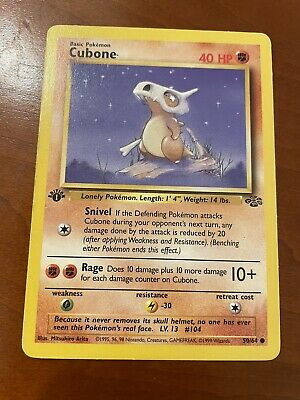 Cubone 1st Edition Jungle 50/64 Pokemon Trading Card Game TCG