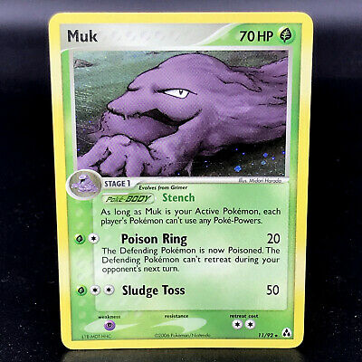 Muk Holo - EX Legend Maker 11/92 - Rare Pokemon Card