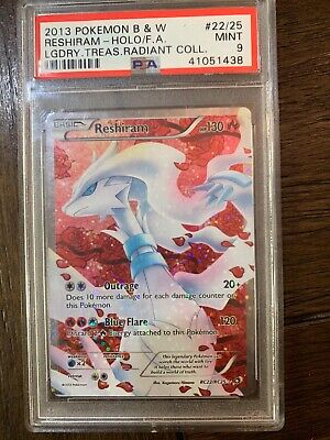 2013 Pokemon Black & White Legendary Treasures Reshiram Radiant Collection PSA 9