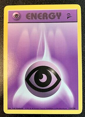 Pokemon Psychic Energy Set Base Set 2 129/130 NM/Mint