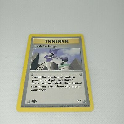 MISCUT 1ST EDITION Trash Exchange GYM HEROES 126/132 POKEMON CARD