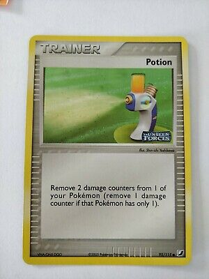 Pokemon Card Potion 95/115 EX Unseen Forces Holo